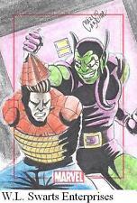 Marvel 75th Anniversary Spider-Man Green Goblin Marcio Cabreira sketch card RARE