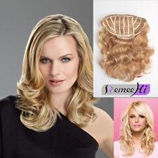 Wavy 3/4 Half Wig 100% Indian Remy Human Hair Half Wig Hair Weft Cap 120g~240g
