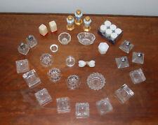 34pcs Vintage Pattern Glass Master Salt Cellar Individual Salt Dip Cellars Lot