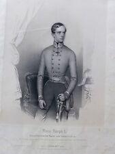 Franz Joseph I Österreich Kaiser Feldmarschall Uniform Olmütz Prinzhofer Litho