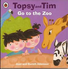 TOPSY and TIM - GO TO THE ZOO Children's Picture Reading Story Book Jean Adamson