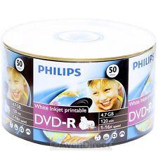 600 New Philips 16X White Inkjet Hub Printable DVD-R Fedex Ground 1-5 Biz Days