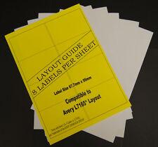 10 A4 Sheets Address Labels Laser & Inkjet 8 Per Sheet 80 Labels In Total