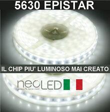 Striscia LED Strip 5630 luce fredda 6000k 5m 300 LED Chip EPISTAR LUMINOSISSIMA!