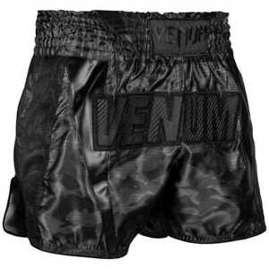 Venum Full Cam Muay Thai Shorts Black/Black Muay Thai MMA Kickboxing