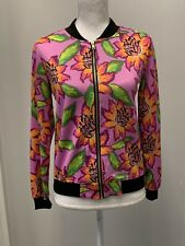 Adorable First Kiss Girls pink floral zip up jacket size 14 16