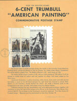 #1361 6c Trumbull Painting Stamp Poster- Unofficial Souvenir Page Flat on PB 4