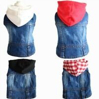 Dog Clothes Denim Jacket Pet Puppy Dog Vest Cowboy Summer Chihuahua Clothing