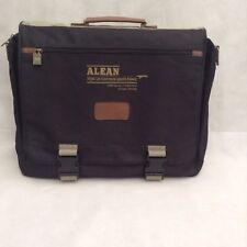 Black Front Flap Lightweight Document / Laptop / Man bag- A.L.E.A.N Imprint.