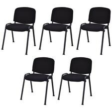 New listing Gymax Set Of 5 Stackable Mid Back Conference Guest Reception Chair Office Home