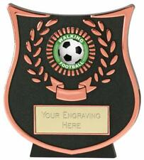 Emblems-Gifts Curve Bronze Walking Football Plaque Trophy With Free Engraving
