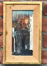 1944 Signed William Thon Abstract Paris Cityscape Painting. Midtown Galleries NY
