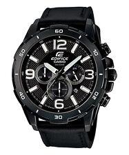 CASIO EFR-538L-1AV EDIFICE Chronograph Leather Strap Black