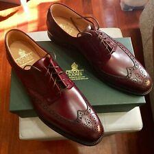 NEW💥Crockett & Jones💥 Trafford 2 Burgundy Derby Shoes 9.5 UK Brogue