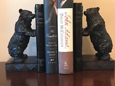 STANDING BEAR BOOKENDS ... RESIN ... USED