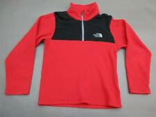 The North Face Size 6-8 Boys Red/Black 1/4 Zip Fleece Jacket 615