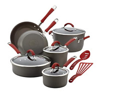 Rachael Ray 87630 Cucina Hard Anodized Nonstick Cookware Pots and Pans Set, 12 P