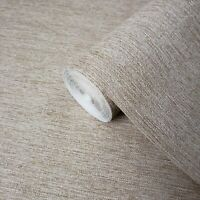 rustic Taupe Brown Faux Grasscloth textures wallpaper Textured modern plain roll