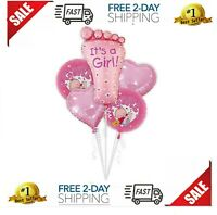 SGODA It's A Girl Foil Balloons Baby Shower Decorations Blue Balloon, 5pcs, 20in