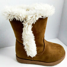 Cat & Jack Toddler Girls Brown Fleece Fashion Boot Size 6