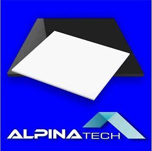 Plexiglas® Acrylglas schwarz und weiß  glänzend 3mm, 5mm oder 8mm Laserzuschnitt