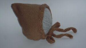 NEW LOVELY Baby Infant Knitted Crochet Bonnet Pixie Beanie Hat 12- 18 Months