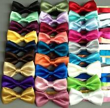NEW Boys Kids Satin Bow Tie Adjustable strap BowTie WEDDING PAGEANT FORMAL Party
