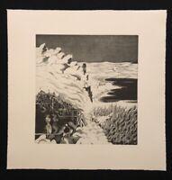Holger Runge, Winter, Radierung, 1977, handsigniert und datiert