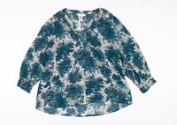 Womens Joie Silk Floral Pink Popover Blouse Top Shirt Size S Small