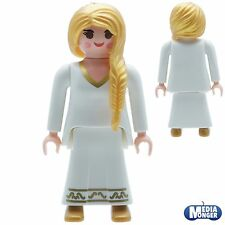 playmobil figurine: Femme Reine Jeu de dames Robe De Princesse blanc / doré