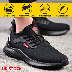 Mens Womens Safety Trainers Work Boots Steel Toe Cap Hiking Sneakers Mesh Shoes