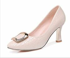 Guciheaven Elegant Ladies Office Shoes Nude Snake Skin UK 4 EU 37 LN18 09