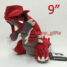 """Pokemon Groudon #383 Plush Soft Toy Ground-type Stuffed Animal Teddy Doll 9"""" NWT"""