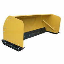 Titan Attachments Snow Pusher 10' Skid Steer Compact Tractors Rubber Edge