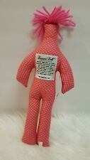 Dammit Doll Pink With White Polka Dots Plush