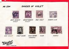 Usa, Shades of Violet, Stanley Gibbons Education Booklet (4420