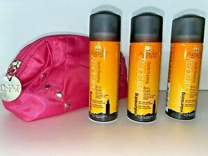 3 x Agadir Volumizing Finishing Firm Hold Hairspray 1.5oz & OPI Travel Bag