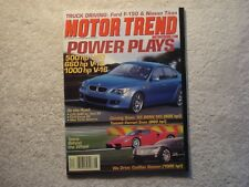 Motor Trend 2003 August Ford F150 Nissan Titan C32 AMG vs Audi S4 Focus RS BMWM5