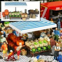 BNIB OO / HO BUSCH 1070 MARKET STALL WITH VEGETABLES