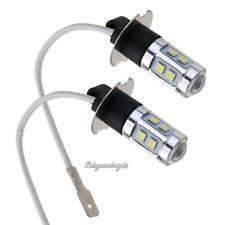 2pcs H3 3030 10SMD White LED Car Headlight Bulbs Fog Light Lamp 12V 10pcs Beads