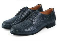 Mens Crocodile Dress Shoes Formal British Style Formal Wedding Lace Up Oxfords