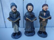 Set of 3 Vintage Carol Singers Figurines Carolers Dolls Drum Boy Girl Christmas