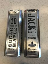 TWO JACK DANIEL'S CHARCOAL MELLOWED TENNESSEE WHISKEY TIN 1.75L {EMPTY}
