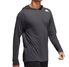 Adidas Training Top Mens Small Black FreeLift Lightweight Hooded Gym Workout Tee