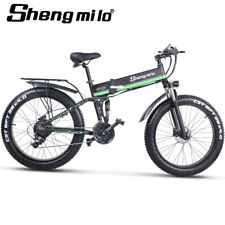 Ebike 48v 1000W folding Cruiser double shock absorbers Electric mountain bike