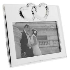 Silver plated Wedding Photo Frame Gift With Hearts WG508