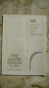DDR, Edition 750 Jahre Berlin 22.09.87 mit div. Blocks und Marken  siehe Bilder