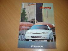 CATALOGUE Hyundai Pony de 1995