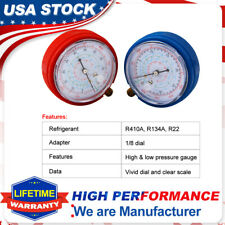 2 Air Conditioner AC R410A R134A R22 Refrigerant Low&High Pressure Gauge PSI KPA