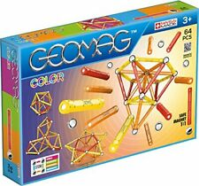 Geomag Color Kit – 64 Piece Magnetic Construction Set 02628